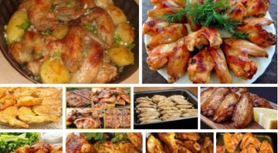 Готовим куриные крылышки — 10 лучших рецептов!