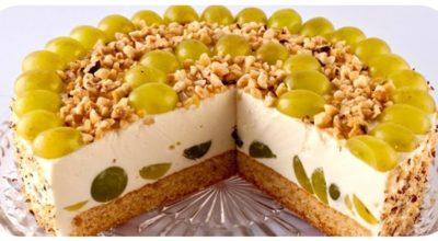 Творожно-фруктовый торт без выпечки