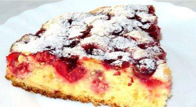 Пирог «Нежный» с вишней