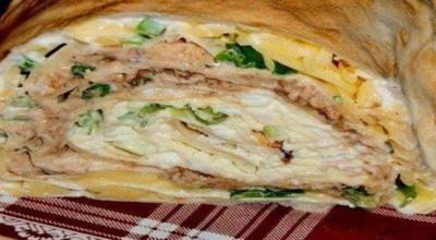 Рулет-салат «Мимоза»