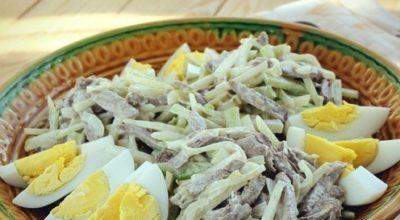 Сытный и интересный на вкус Салат «Ташкент». Попробуйте, не пожалеете!