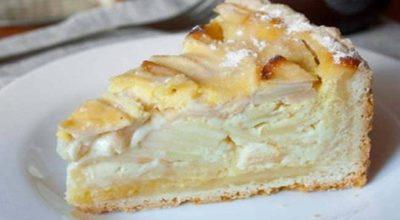 Яблочный пирог с начинкой (Цветаевский) Этот пирог — не просто тесто — яблоки. Здесь особенная яблочная начинка!