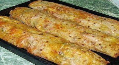 Фаршированный лаваш, запеченный в духовке — отличная идея!