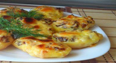 Восхитительная запеченная картошка с грибами
