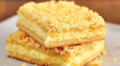 Из той поездки в деревню я ещё привезла рецепт вкусного татарского творожного пирога, которым нас угощали
