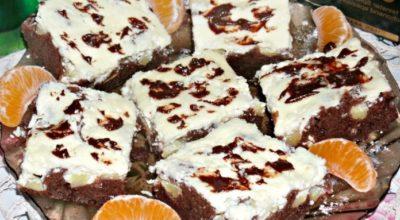 Очень вкусные шоколадно-творожные пирожные. Гениально просто!