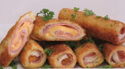 Вкусный и сытный завтрак на скорую руку: трубочки из хлеба. Вкуснятина