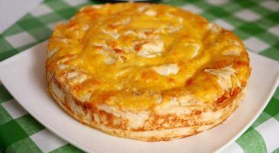Быстрый сочный пирог с мясом, для которого не нужно тесто