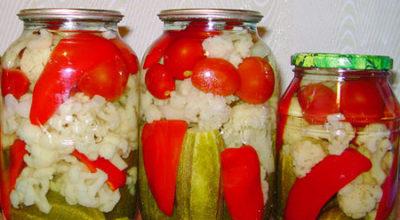 Вкусная овощная консервация