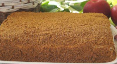 Необычный тортик «Медовик» без раскатки коржей!