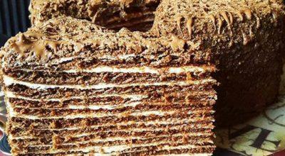 Рецепт торта медовик с заварным кремом – шоколадный