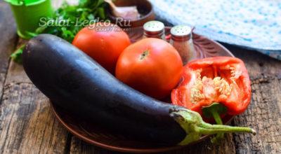 Салат «Тещин язык» из баклажанов на зиму