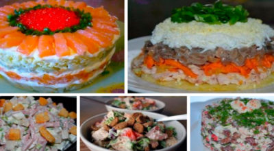 ТОП — 5 Новые вкусные салаты к празднику