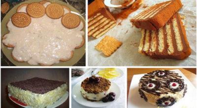 Торты из печенья без выпечки. 5 лучших рецептов!
