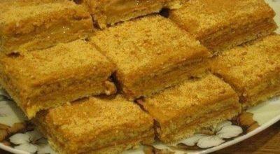 Медово-апельсиновые пирожные со сгущенкой