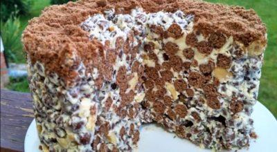 Вот как приготовить обалденный хрустящий торт без выпечки всего за 2 минуты!