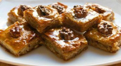 Пахлава. Свежайшая, ароматная, многослойная, ореховая и медовая!