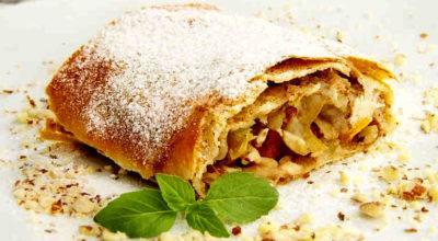 Рижский яблочный пирог. Как штрудель, только быстрее!