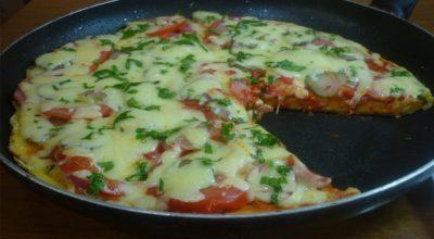 Быстрый рецепт пиццы на сковороде