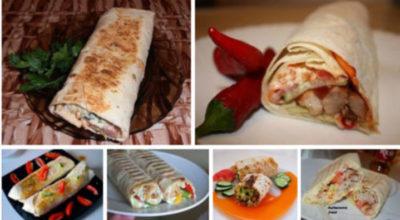 Хорошая подборка из 6 рецептов домашней шаурмы
