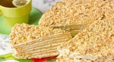 Торт «Наполеон особенный» с очень вкусным кремом