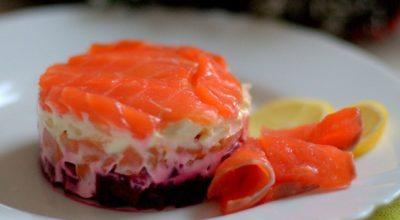 Диетический салат «Семга на шубе»