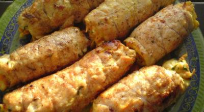 Рулетики «Боярские» из куриной грудки: готовятся быстро, а выглядят очень презентабельно!