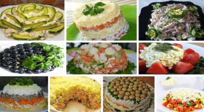 ТОП-10 рецептов приготовления праздничных салатов
