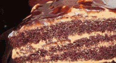 Настоящее лакомство для детей! Восхитительно вкусный домашний торт «Золотой ключик»