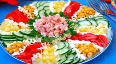 Салат Мозаика праздничный. Вкусно и красиво