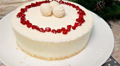 Потрясающий торт «Рафаэлло» без духовки за 5 минут