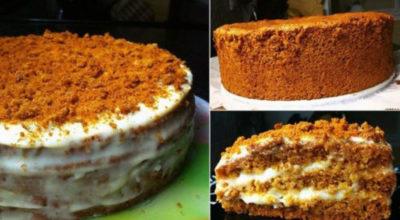 Бисквитный торт «Медовый»