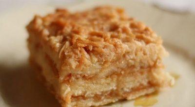 Болгарский яблочный пирог. Этот пирог еще называют «Три стакана»