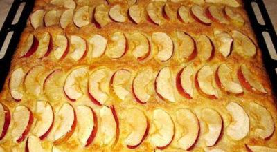Нежный пирог с яблоками за 20 минут. Мой дежурный рецепт на все случаи жизни