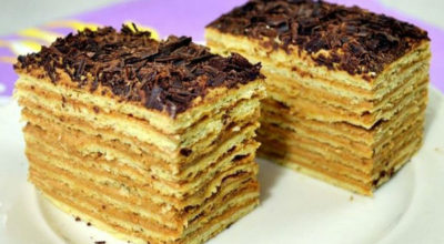 Торт «МИКАДО» с карамельным кремом