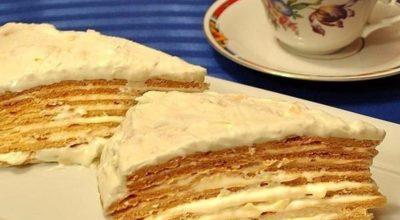 Нежный воздушный торт «Парижский коктейль»