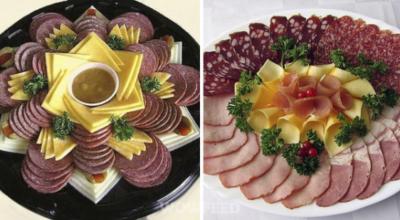 Хозяйке на заметку: 20 вариантов, как оформить мясную нарезку