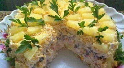 Бесподобный  торт — салат «Чародейка»