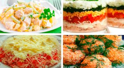 Четыре отличных рецепта вкусных и быстрых салатов