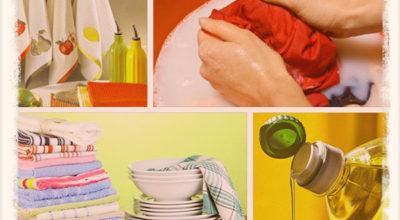 Как легко отстирать кухонные полотенца