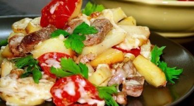 Безумно вкусный картофель «по-французски» на сковороде