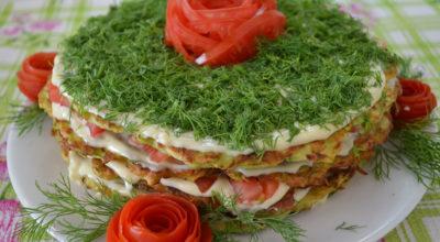 Легкий овощной торт