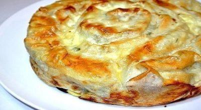 Быстрый и вкусный пирог «Лаваш в заливке»