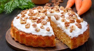 Правильный морковный пирог с нежным творожным кремом