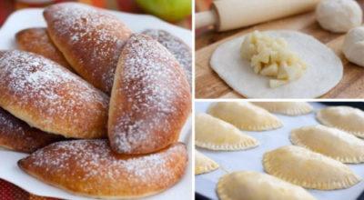 Пышные и румяные, мои любимые пирожки с яблоками