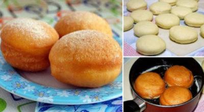 Самые вкусные пончики с начинкой