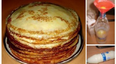 Теперь готовим только так: блины к завтраку, не перепачкав гору посуды