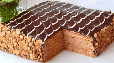 Торт Наполеон Шоколадно-сливочный