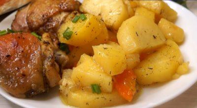 Ужин без возни «Хозяйка отдыхает»: мясо с картофелем в рукаве