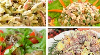 10 рецептов лучших грибных салатиков на любой вкус